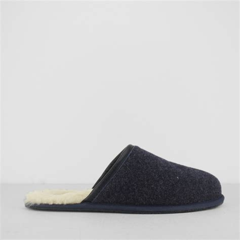 ugg mule slippers ugg scuff novelty mens wool leather mule slippers navy
