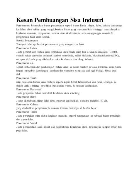 Pembuangan Air 1 5 By Selviquarium kesan pembuangan sisa industri