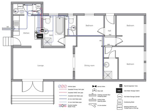 Kitchen Design Software Australia plumbing and piping plans solution conceptdraw com