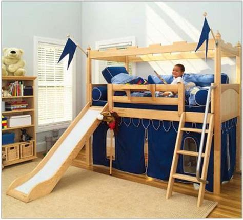 kids beds with slide bunk bed with slide kid s camelot castle twin bunk bed