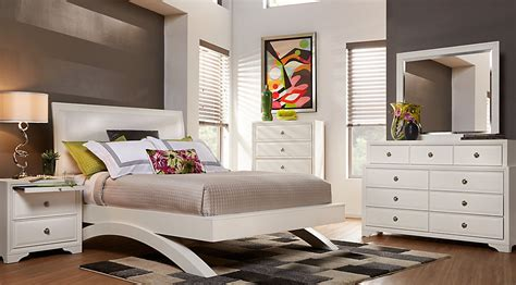 belcourt white  pc king platform bedroom king bedroom sets colors