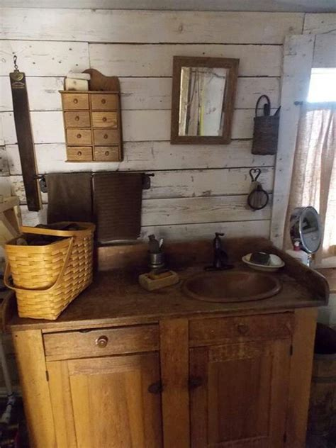 primitive bathrooms primitive bathroom country decore pinterest