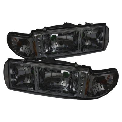 Chevy Impala 1991 1996 Smoked Euro Headlights with LED