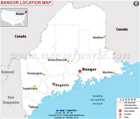 bangor maine map where is bangor maine