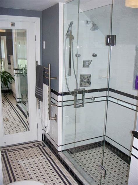 bloombety modern bathroom tile designs with floor mat black and white tile bathrooms done 6 different ways