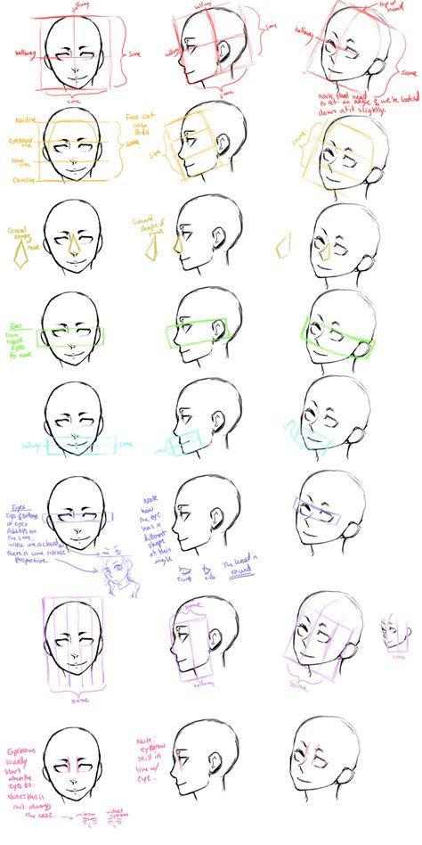 how to draw heads at different angles the guide study by jotaku on deviantart