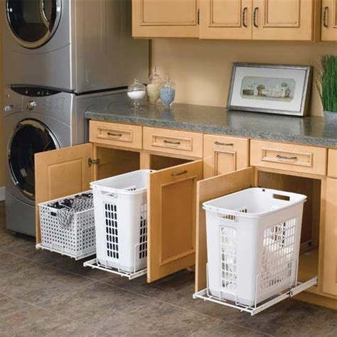 pull out laundry for cabinet rev a shelf white pull out polymer laundry her for