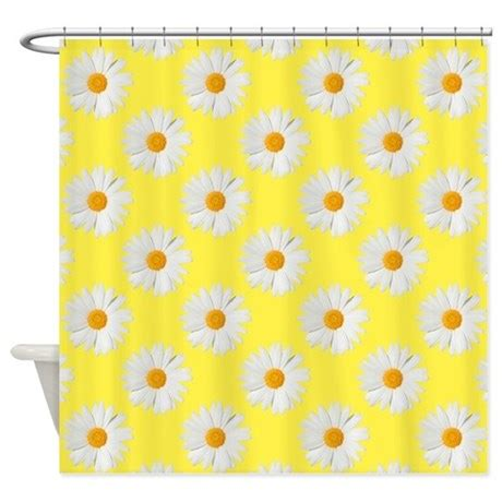 yellow daisy curtains daisy flower pattern yellow shower curtain by cutetoboot