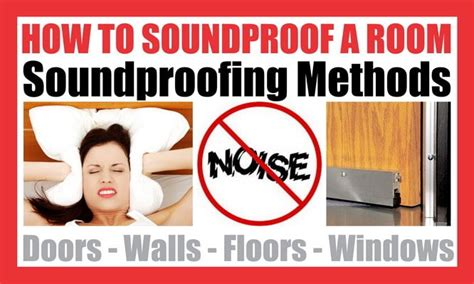 how to soundproof a room and block noise