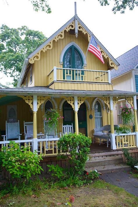 Oak Bluffs Cottages by Oak Bluffs Cottage 6 Photograph By Allan Morrison