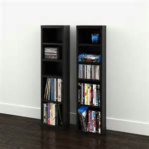 sereni t 4 shelf modular cd dvd storage towers set of 2