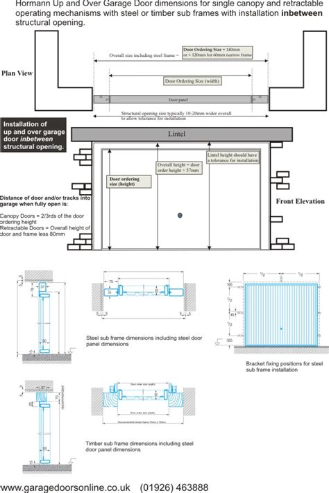 Overhead Door Dimensions Technical Details Up And Hormann Series 2000 From Garage Doors