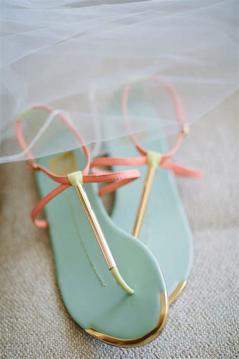 coral colored sandals shoes coral sandals in a mint green color sandles