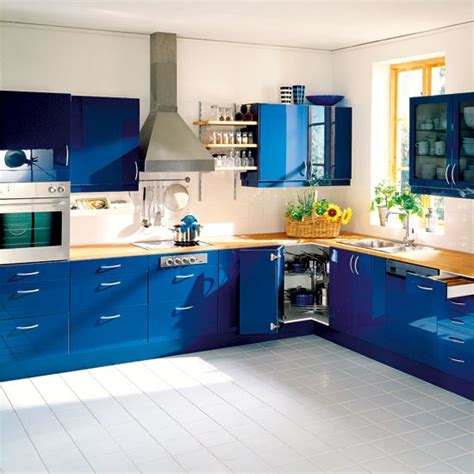 blue kitchen cabinets ideas kitchen colour schemes kitchen decorating ideas photo