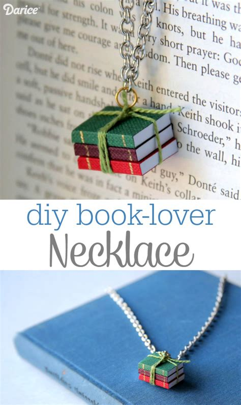 make in a day crafts for books book necklace diy for the book lover darice