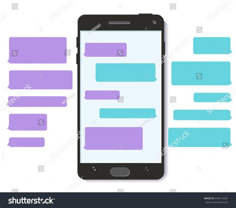 Chatbot Whatsapp Chat Bot Text Message Stock Vector 654712237 Shutterstock Chatbot Template