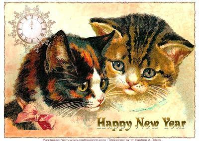 vintage catshappy  year  cup craftsuprint