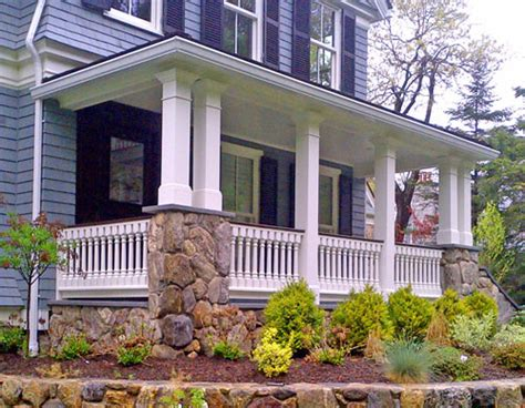 porch banister 187 custom wood porch railings in weston ma