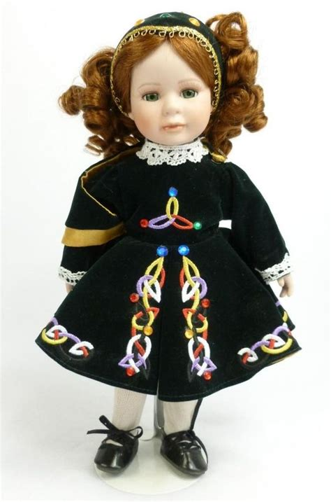 dancing dolls mothers hair color irish celtic dancer porcelain doll 13 quot red hair dancing