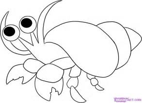 Hermit Crab Template by Hermit Crabs Coloring Pages Coloring Home