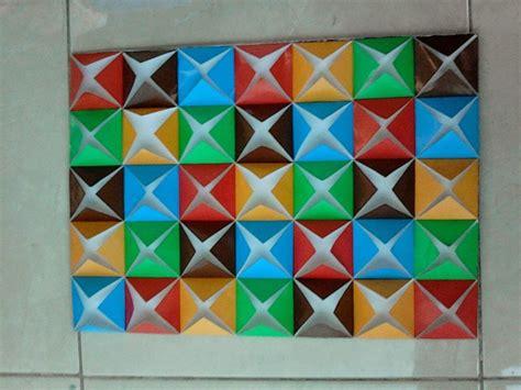 membuat hiasan dinding sekolah 7 hiasan dinding kelas tk paud dari kertas origami