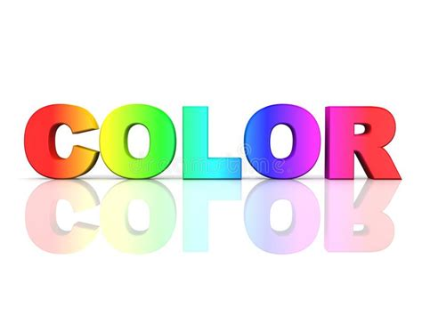 color words the word color in rainbow colors stock illustration