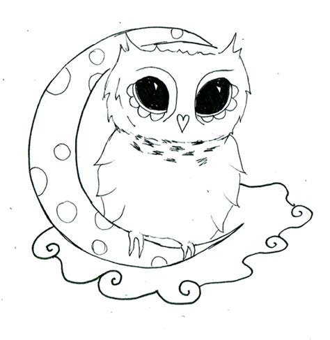 simple owl tattoo design easy owl drawings