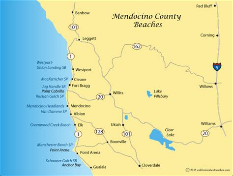 california map mendocino county schooner gulch and bowling directions