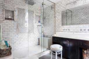 glass subway tile bathroom ideas shower with subway tile and glass doors decoist
