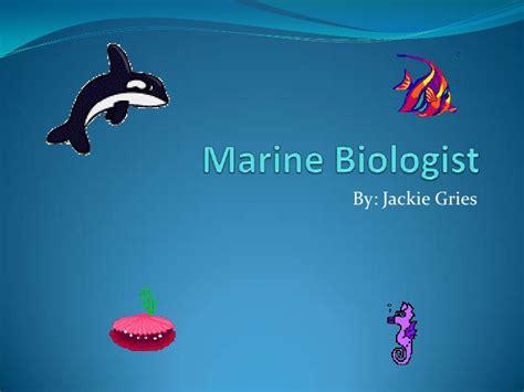 Marine Biologist Marine Biology Powerpoint