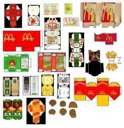 food papercraft template m 225 s plantillas para crear tu juego mcdonalds packaging