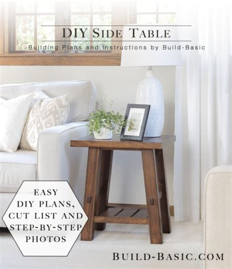 31 Diy End Tables Diy Joy Living Room Side Table Ideas