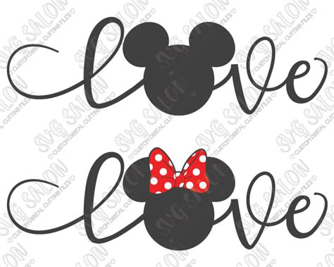Disney Boy Plain Black boy and mouse svg cut file set in svg eps dxf