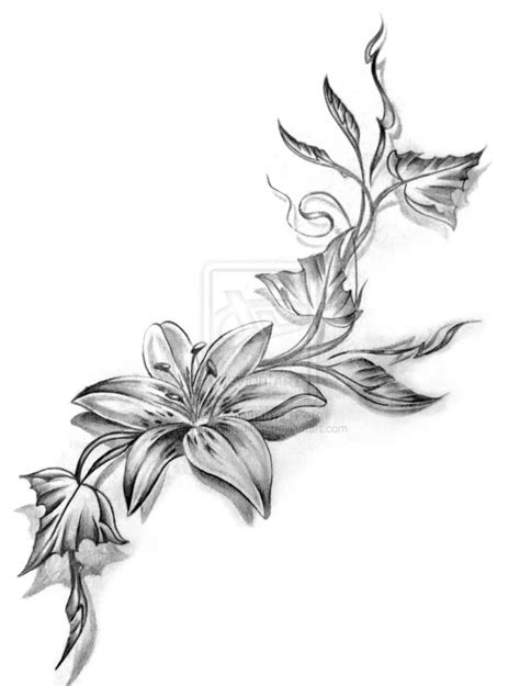 grey flower tattoo designs flower images designs