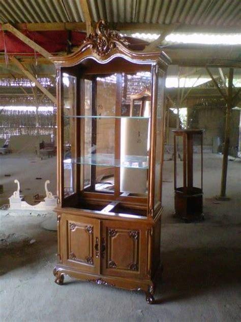 Lemari Hias Kaca Dan Harga Mebel Jepara Furniture Minimalis Kayu Jati Harga