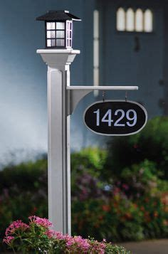 Address Plaques For Light Posts - 1000 images about lighted house numbers on