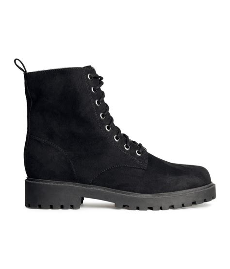 H M Boots by Lyst H M Boots In Black