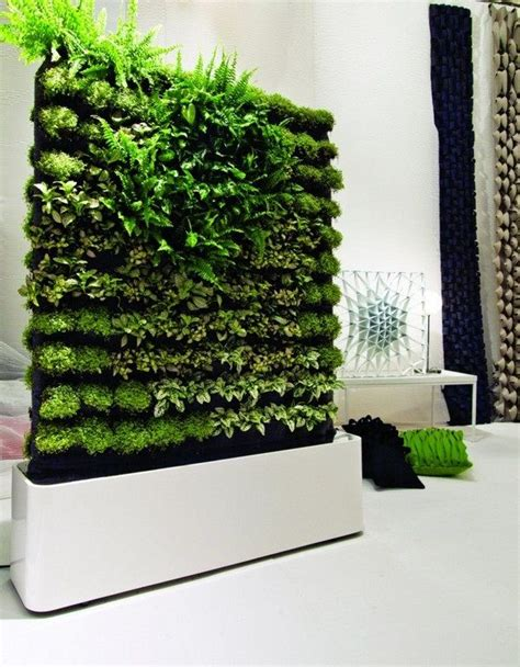 interior design portable green wall ideas in white living