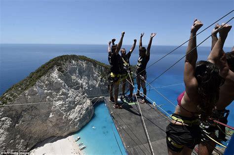 boating accident dubay new rope jumping craze hits greek island zakynthos daily