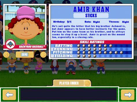Backyard Baseball Amir Khan Viva La Vita Backyard Baseball 2001 Draft Complete Draft And