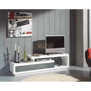 meuble t 233 l 233 vision moderne laque bicolore 2 tiroirs hoa