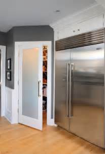 frosted glass pantry door contemporary kitchen