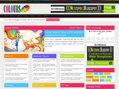 templates blogger responsive 2014 colours a free premium responsive blogger template