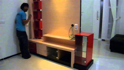 Rak Tv Pembatas Ruangan partisi 2 sisi rak tv rak minimalis sekat ruangan