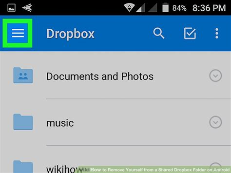 dropbox remove shared folder how to remove yourself from a shared dropbox folder on android