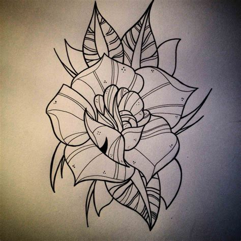 neo traditional rose tattoo traditional drawing at getdrawings free for