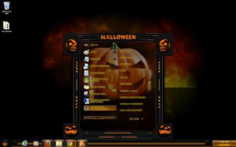 halloween themes for windows 7 windows 7 theme halloween custom by customizewin7 on