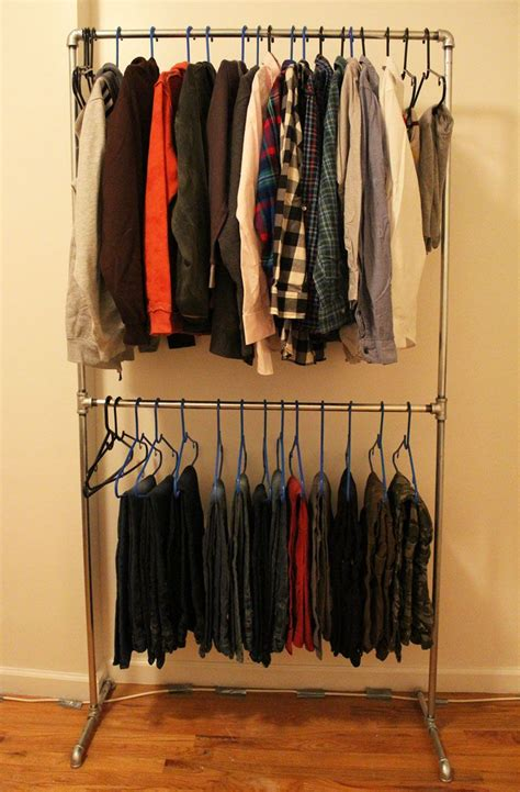 closet clothing diy pipe clothing rack family closet clothing rack