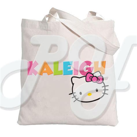 kitty personalized tote bag