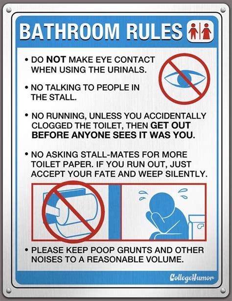 bathroom rules signs bathroom rules gentlemint